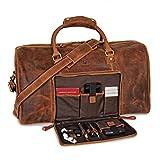 Donbolso Weekender Neapel Braun - XL Reisetasche aus Leder für