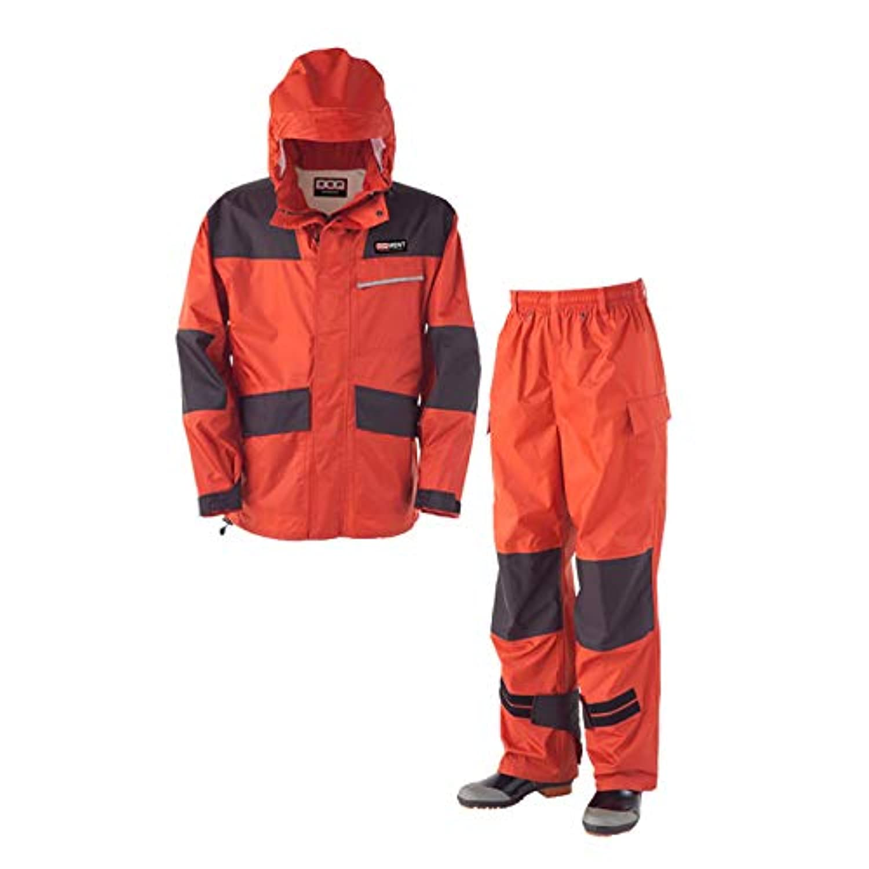 こちらの商品は【 LL 】のみです。 タフに働く男には、力強く動きやすいレインウェアが必須! 仕事合羽 KM-001 オーロラレッド 〈簡易梱包