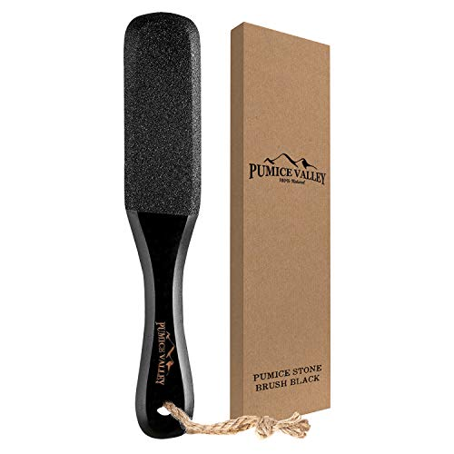 Pumice Stone Foot Scrubber - Pedicure Foot File with Handle for Dry...