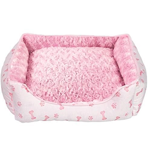 Hundebett für Katzen und kleine Hunde, weich, warm, Baumwolle, A2, 54 x 42 x 12 cm