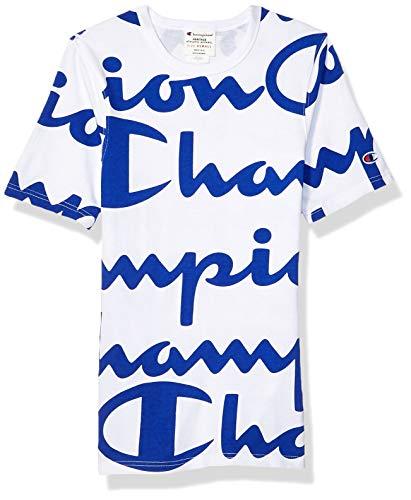 Price comparison product image Champion LIFE Men's Heritage Tee,  Giant CHP Script White-SURF,  Medium
