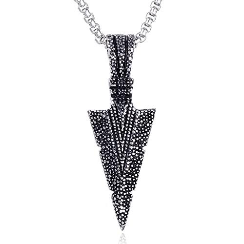 NC68 Europa und die Vereinigten Staaten Edelstahl Halskette Männer Schmuck trendy Partikel Pfeil Titan Stahl Darts-Dreieck-Anhänger