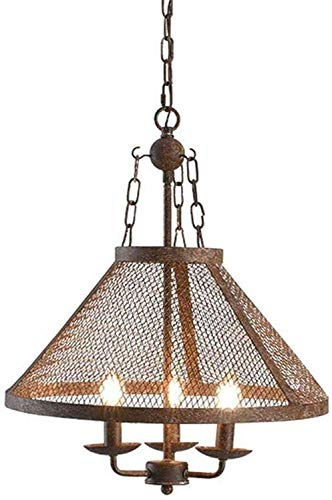 Hanglamp industriële stijl Retro Cafe Restaurant 3 hoofd kaarsen creatieve antieke smeedijzeren kroonluchter D430*H450MM