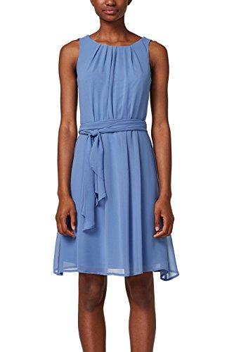 ESPRIT Collection Damen 028EO1E018 Partykleid, Blau (Blue 430), 38
