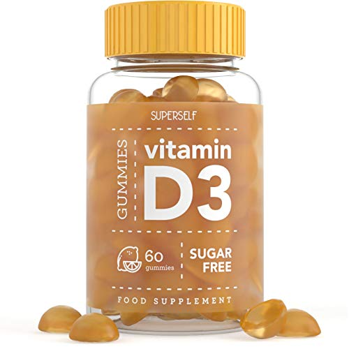 Vitamin D Gummies 1000IU - 60 Chewable Gummies - 1000 IU Vitamin D3 per Gummy - High Strength VIT D Supplement for Kids & Adults - Immune System Support - Gluten Free & Vegetarian - Natural Lemon