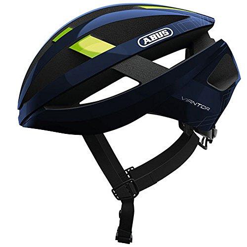 ABUS Viantor - Casco de bicicleta, Unisex , Azul (Movistar Team), M (52-58 cm)