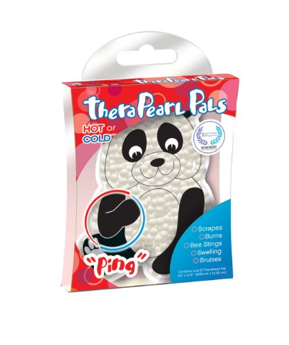 TheraPearl Children's Pals, Ping The Panda, Non Toxic Reusable Animal Shaped Hot Cold Therapy Pack,...