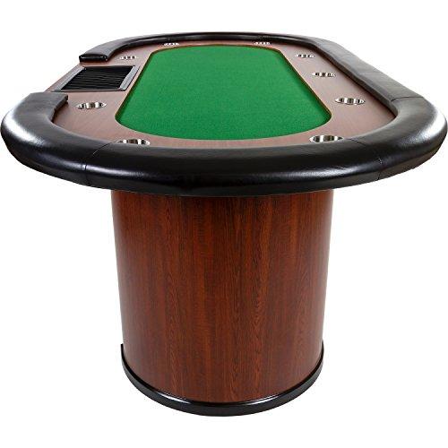 Maxstore Pokertisch ROYAL Flush, 213 x 106 x75 cm, Farbwahl, Gewicht 58kg, 9 Getränkehalter, gepolsterte Armauflage - 3