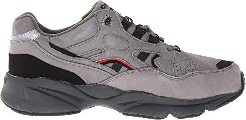 Propet Men's Stability Walker Sneaker, Grey/Black Nubuck, 9.5 5E US
