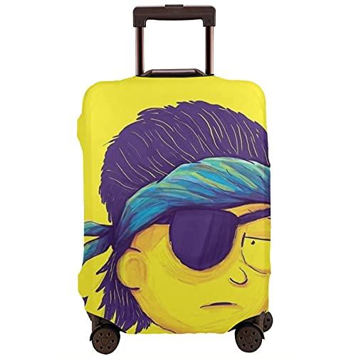 Funda de equipaje de viaje Ri-Ck y Mor-Ty Protector de maleta lavable Fundas de equipaje para equipaje de 25 a 28 pulgadas