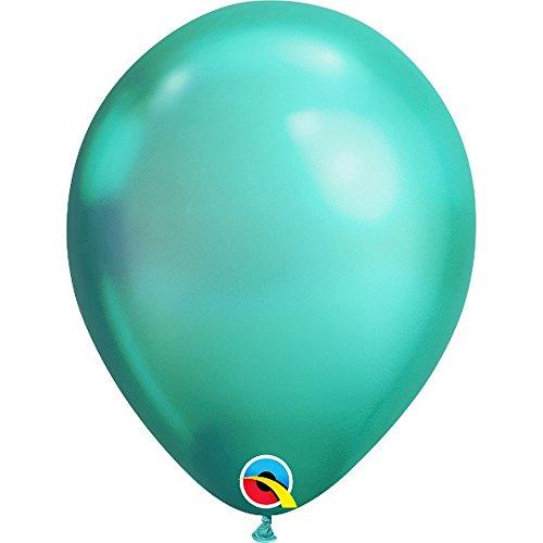 Folat 58273Q Globos de cromo verde 28 cm-100 piezas