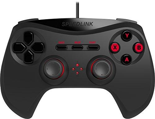 Speedlink Strike NX Gamepad für PC (X-Input und Direct-Input, Vibrationsfunktion) schwarz