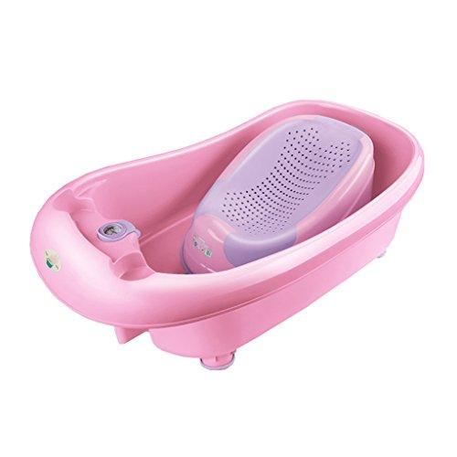 Bébé pliable anti-dérapant peut s'asseoir dans la baignoire Multifonctionnel en plastique bébé baignoire confortable usure/stabilité Portable/matériel sécurité bleu, vert, rose, violet (85 * 25cm)