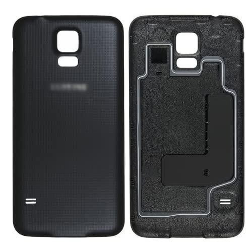 XFU Tapa de la Batería para Samsung Galaxy S5 i9600 i9605 G900F G9600 Kit de Reparación y Reemplazo de Tapa de Batería(Negro