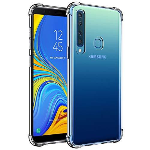 Verco Handyhülle für Samsung Galaxy A9 (2018), Anti Shock Schutzhülle für Samsung Galaxy A9 2018 Hülle Silikon [Bildschirm- und Kameraschutz] Weiche Flexible TPU Hülle, Transparent