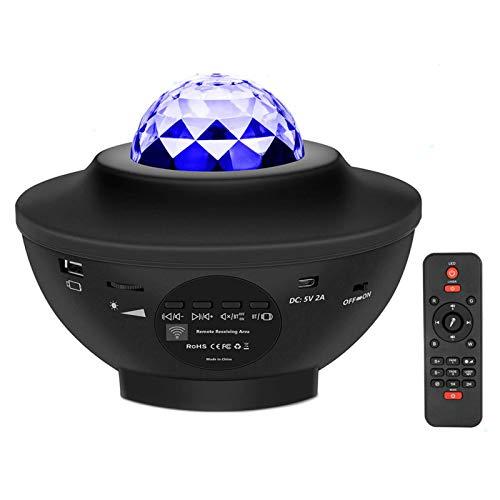 Raburt Proyector de música Galaxy Starry Water Wave LED proyector Light Bluetooth...