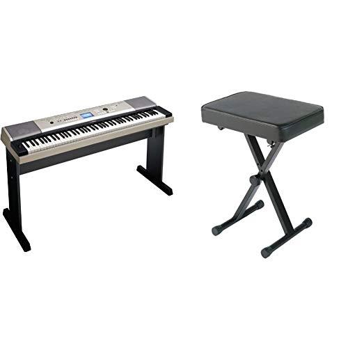Yamaha Ypg535 Portable Grand Piano & YAMAHA PKBB1 Adjustable Padded Keyboard X-Style Bench, Black,19.5 Inches