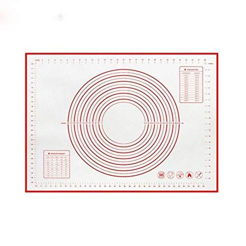Alfombrilla para hornear de silicona antiadherente de varios tamaños con báscula Almohadilla para amasar Alfombrilla para amasar Cocina Cocinar hojaldre Revestimiento para horno 2020-26x29 cm Rojo