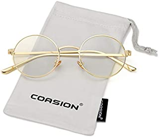 COASION Vintage Round Metal Sunglasses John Lennon Style...