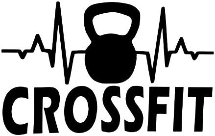 Kettlebell Weights Heartbeat Workout MKR Decal Vinyl Sticker Cars Trucks Vans Walls Laptop Black product image