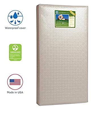 "51.7/"" x 27.3 Lightweight Hypoallergenic Soy Foam Extra Firm Design Pattern May Vary Sealy Soybean Foam-Core Toddler /& Baby Crib Mattress Durable Waterproof Cover Air Quality Certified Foam"