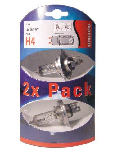 Unitec 77838 Unitec Doppelpack 2x H4