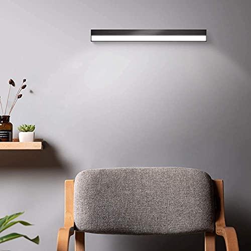 Espejo de baño, lámpara de pared LED de 5 W USB recargable luces de pared espejo cosmético lámpara de lectura regulable para pasillo interruptor táctil
