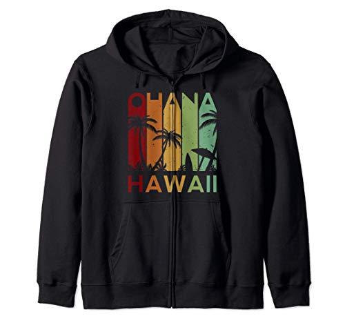 Retro Ohana Hawaii Tropical Vintage Family Gift Sudadera con Capucha