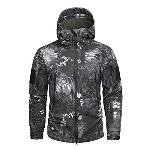 IFAWNGDK Shark Skin Soft Shell Military Tactical Jacket Men Waterproof Fleece Clothing Camouflage Windbreakers TYP 4XL
