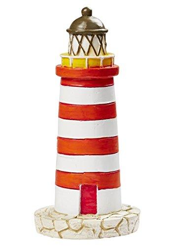 Leuchtturm in Rot/Weiß, 75 mm