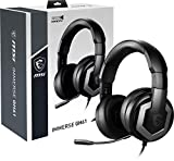 MSI Gaming Hi-Res Vitrual 7.1 Surround Sound with Built-in ESS DAC& AMP Gaming Headphone (Immerse GH61), Black, Large