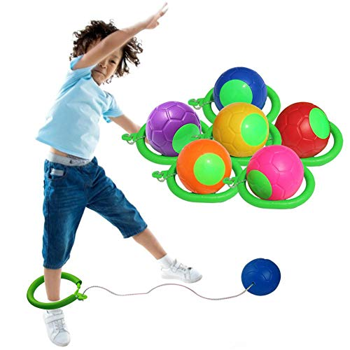 CHERRYSONG Skip Ball, Ankle Swing Ball - Improve Coordination, Get Exercise The Fun Way - Playground Ball Best Retro Birthday Gift for Kids