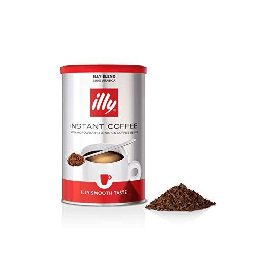 illy Coffee, Classico Instant Coffee, Medium Roast, 100 Percent Arabica Coffee Beans, Bulk Pack of 6 x 95 g