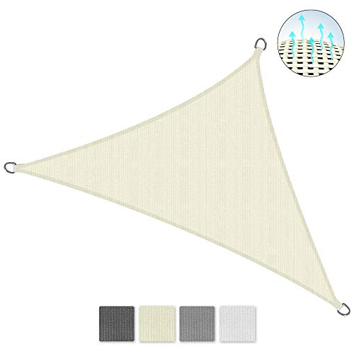 Sol Royal Tenda a Vela Traspirante 600x420x420 cm SolVision HS9 - Protezione Triangolare Parasole e Anti UV - Crema
