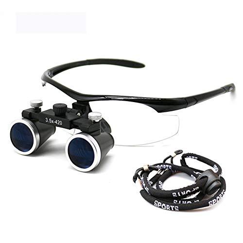 WPY 3,5X Chirurgisches Fernglas Lupen Stirnband Lupenbrille Für Brillenträger, Medizinische,Zahnärztliche,Juweliere, Nähen, Und Reparatur