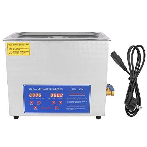 Yosoo Ultrasuoni Bagno,Pulitore Ad Ultrasuoni Display Digitale lavatrice ad ultrasuoni Pulizia Dispositivo Pulitor con Riscaldamento Timer per protesi, Occhiali, Gioielli, Orologi, (6L)