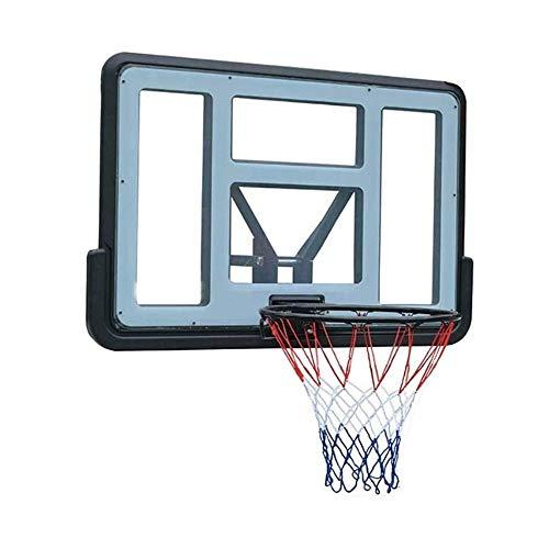 SMLZV Basketball Wandmontage Boards, PVC Transparent Basketballkorb, Hängen Basketballkorb im Freien Sport, Teens Fest Plus-Frühling Basketball Board (110x75cm)