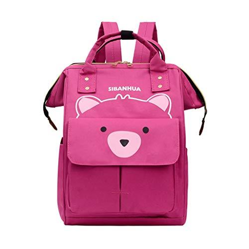 TUDUZ Damen Mädchen-modischer Ananas-Druckreiserucksack-Mädchen-Campus-Art-Freizeit-Rucksack Rucksackhandtaschen(Hot Pink)