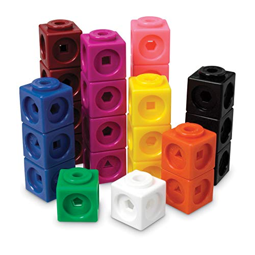 Learning Resources MathLink Cubes, Educational Counting Toy, Math Cubes, Patterning Activities, Set of 1000 Cubes, Grades K+, Ages 4+
