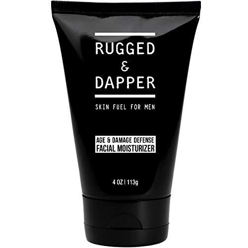 RUGGED & DAPPER Age + Damage Defense Facial Moisturizer | Dual Purpose Face Lotion & Aftershave for Men - 4 Oz
