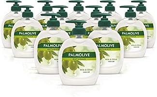 Palmolive Handtvål Naturals Milk & Olive Storpack Flytande Tvål, Dermatologiskt Testad Handtvätt med Pumpflaska - 300 ml...