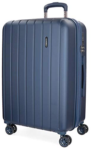 Movom Wood Blue Medium Suitcase 44.50 x 65 x 27.5 cm Rigid ABS TSA...