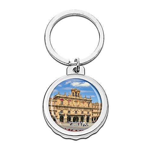 Hqiyaols Keychain Plaza Mayor de España Salamanca Gorra...