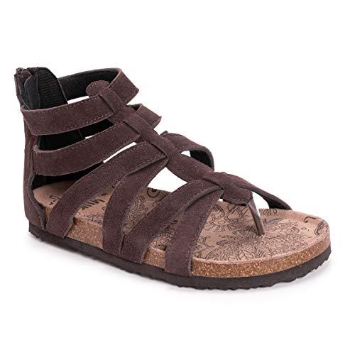 MUK LUKS Women's Kinley Sandal, Chocolate, 11