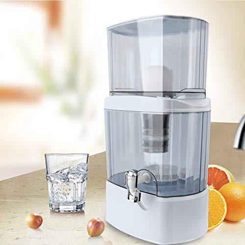 24L Purificador de agua mineral de escritorio, Sistema de filtración de agua, Purificador de agua de 5 etapas, Máquina del sistema de filtración del filtro purificador de agua, con Grifo Purif