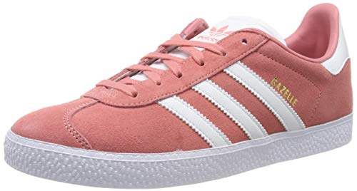 adidas Gazelle J, Zapatillas de Gimnasia Unisex Adulto, Rosa (Tactile Rose F17/Ftwr White/FTWR White Tactile Rose F17/Ftwr White/FTWR White), 36 EU