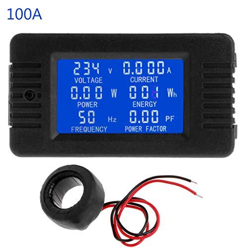 enyu 6in1Digital AC 80~ 260V alimentación Monitor de energía Corriente kWh Vatímetro 100A