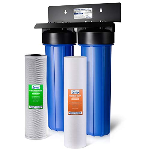 iSpring WGB22B 2-Stage Whole House Water Filtration System...