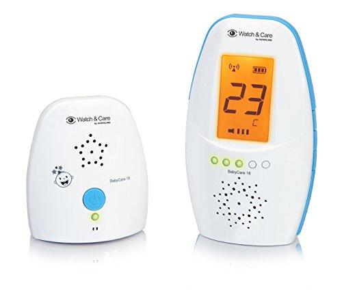 Audioline Baby Care 18 - Babyphone mit digitaler und rauschfreier Funkübertragung