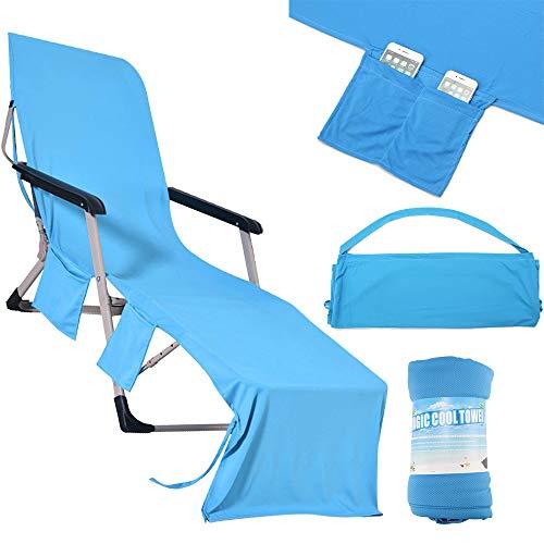 OurLeeme Sun Lounger Towel, Sun Lounger Beach Mat Silla de Playa Cubierta...